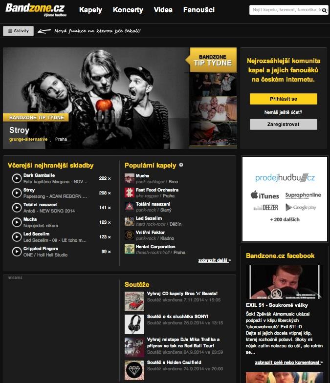 BandZone_Homepage